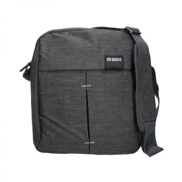 Pánská taška přes rameno Enrico Benetti Filip – šedo-černá