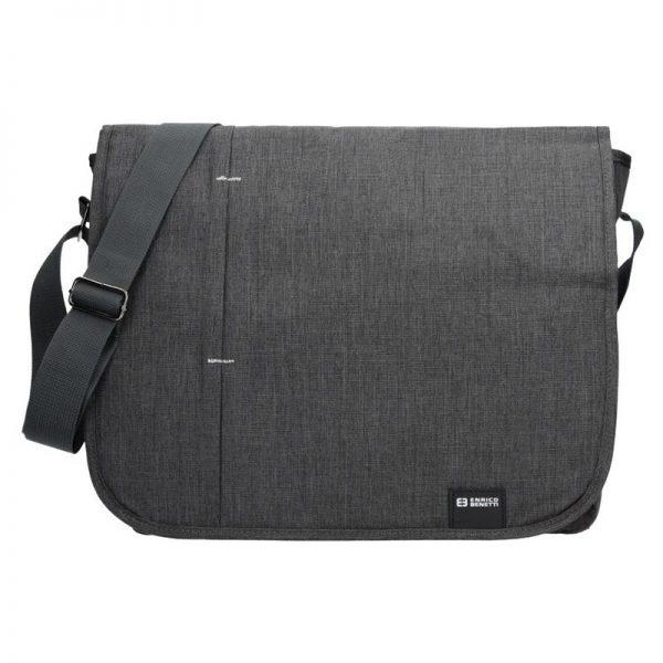 Pánská taška přes rameno Enrico Benetti Monter – šedo-černá
