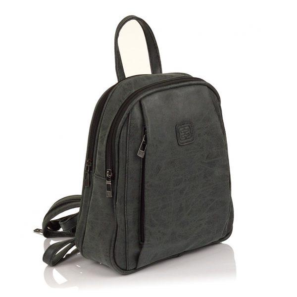 Moderní ekokožený dámský batoh Enrico Benetti 66169 – černá
