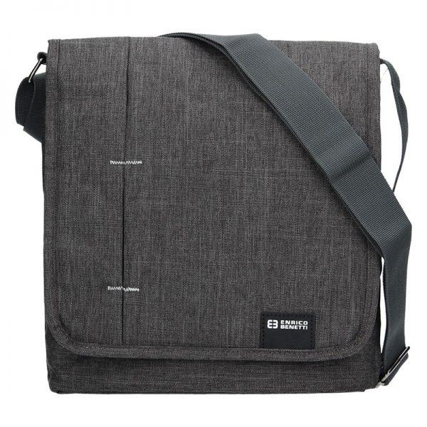 Pánská taška přes rameno Enrico Benetti Eric – šedá