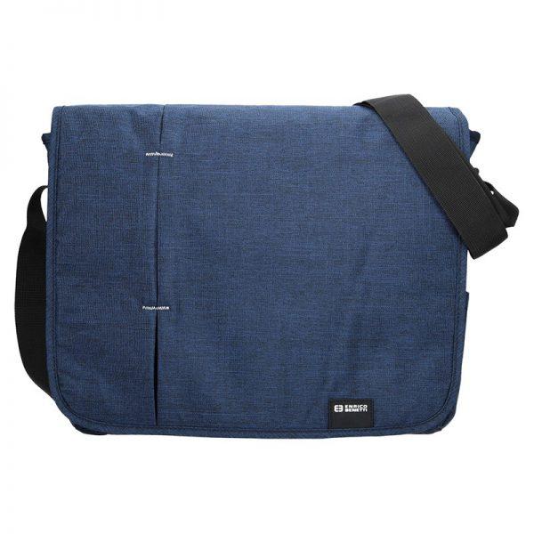 Pánská taška přes rameno Enrico Benetti Monter – modrá