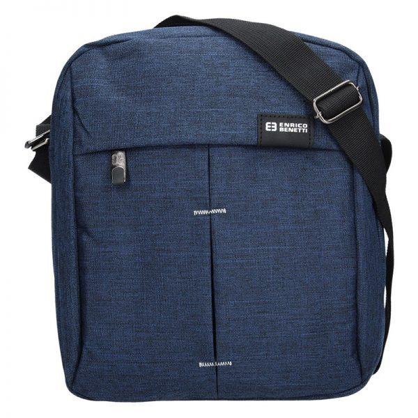 Pánská taška přes rameno Enrico Benetti Filip – modrá