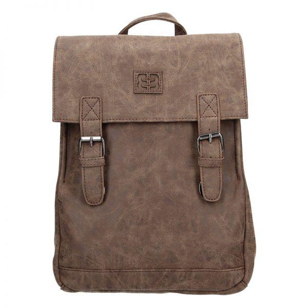 Moderní dámský batoh Enrico Benetti Vilma – tmavě hnědá