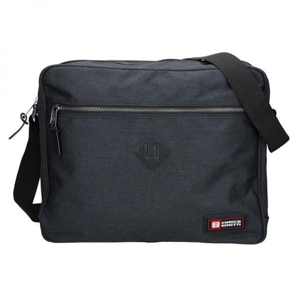 Pánská taška přes rameno Enrico Benetti Montain – černá