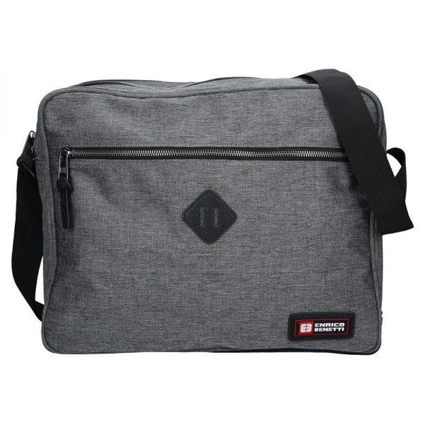 Pánská taška přes rameno Enrico Benetti Montain – šedá