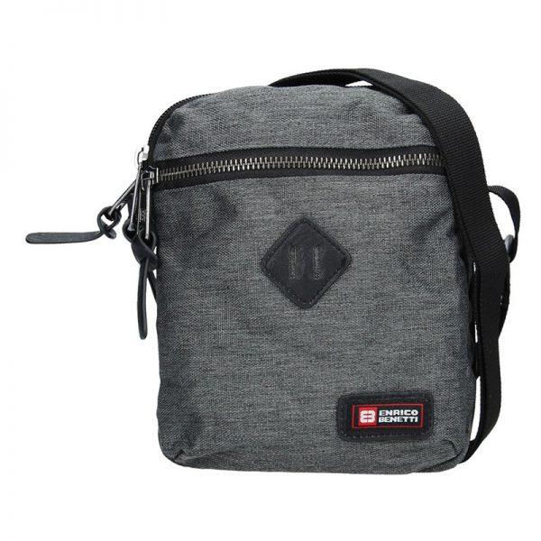 Pánská taška přes rameno Enrico Benetti Paolle – šedá