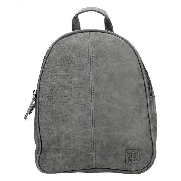 Moderní ekokožený dámský batoh Enrico Benetti Matilda – šedá