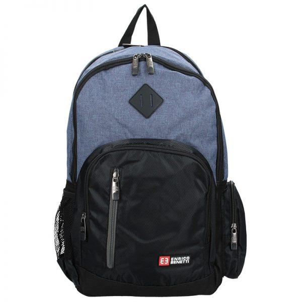 Pánský sportovní batoh Enrico Benetti Gole – černo-modrá