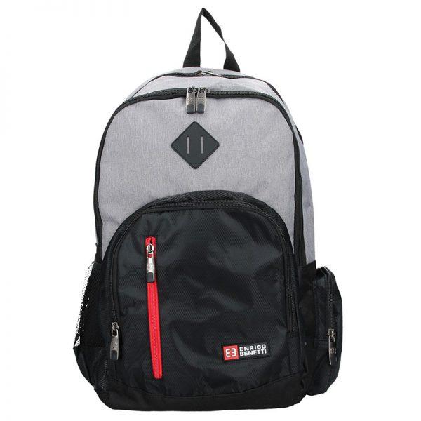 Pánský sportovní batoh Enrico Benetti Gole – černo-světle šedá