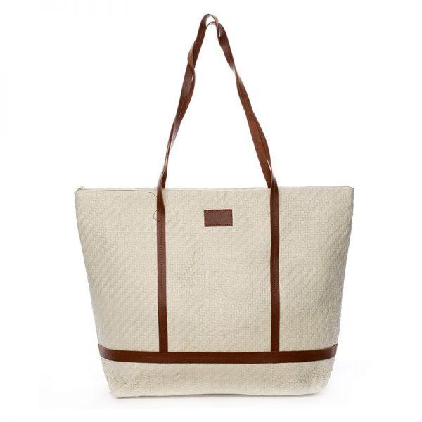 Plážová taška Vilma – béžovo-hnědá