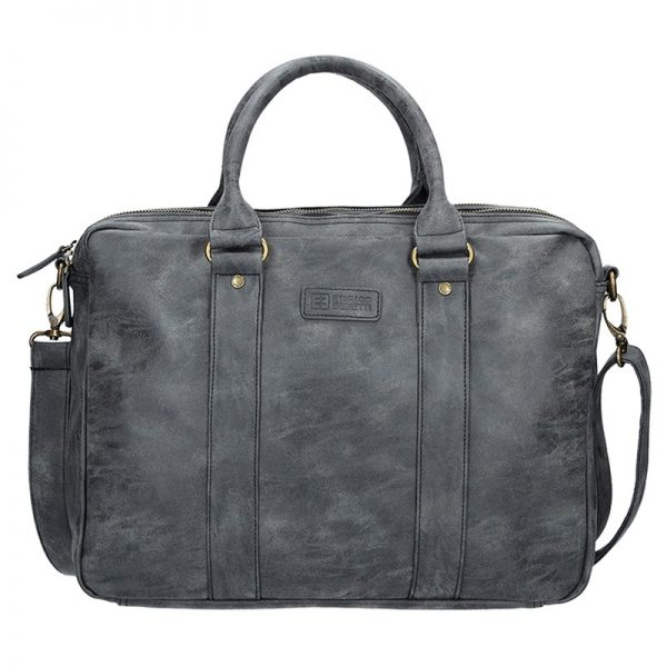Pánská taška přes rameno Enrico Benetti Madrid – černo-šedá