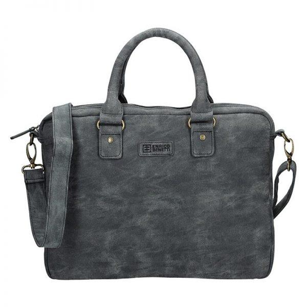 Pánská taška přes rameno Enrico Benetti Sevilla – černo-šedá