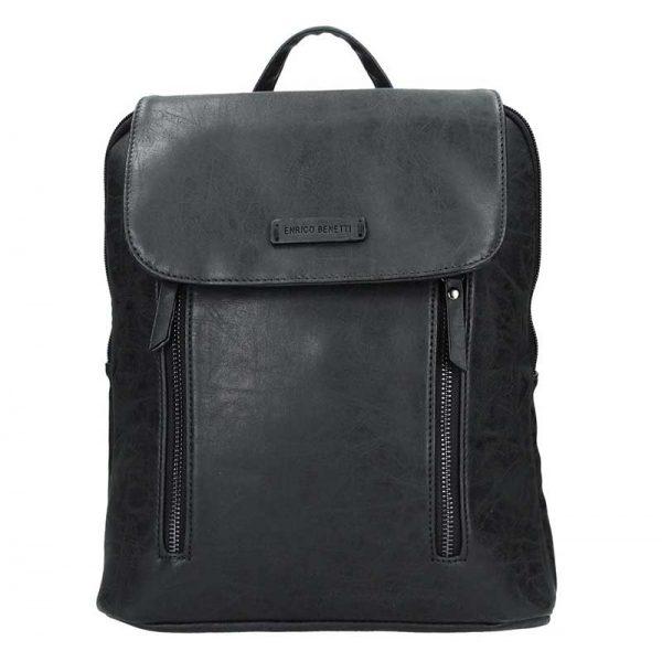 Moderní dámský batoh Enrico Benetti Tinna – černá