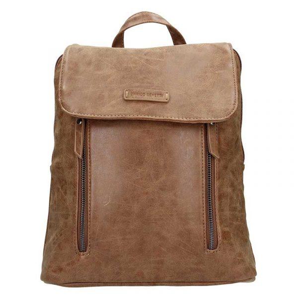 Moderní dámský batoh Enrico Benetti Tinna – hnědá