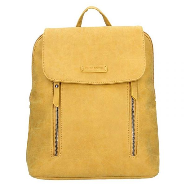 Moderní dámský batoh Enrico Benetti Tinna – žlutá