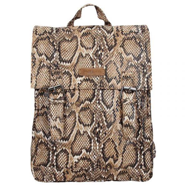 Moderní dámský batoh Enrico Benetti Snake – hnědá