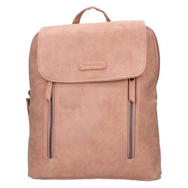 Moderní dámský batoh Enrico Benetti Tinna – růžová