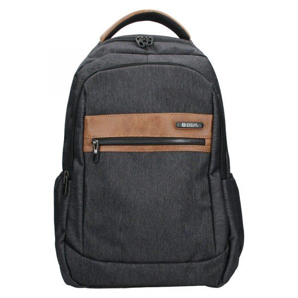 Moderní pánský batoh Enrico Benetti Karlos – černo-šedá