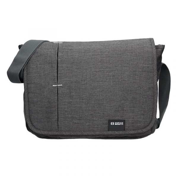 Pánská taška přes rameno Enrico Benetti Koplen – šedo-černá