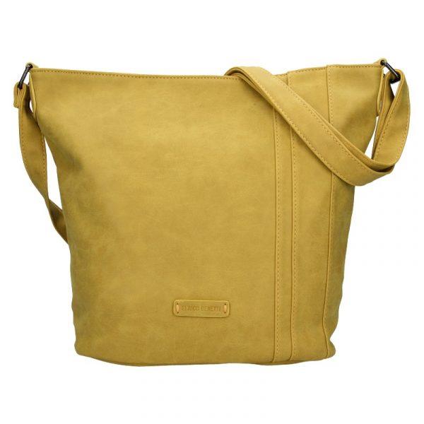 Dámská crossbody kabelka Enrico Benetti Kammy – žlutá
