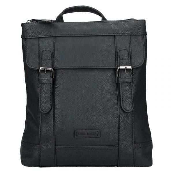 Moderní dámský batoh Enrico Benetti Martinas – černá