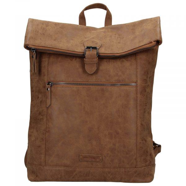 Moderní dámský batoh Enrico Benetti Badea – hnědá