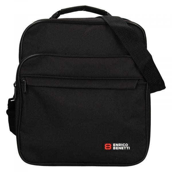 Pánská taška přes rameno Enrico Benetti Jonsen – černá