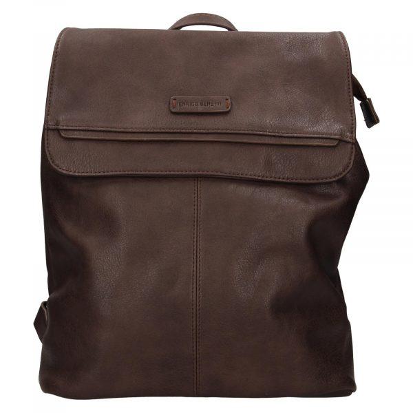 Moderní dámský batoh Enrico Benetti Alexa – tmavě hnědá